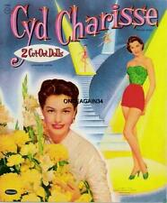 Vintage Uncut 1956 Cyd Charisse Paper Dolls~#1 Reproduction~Wonderful Rare Set