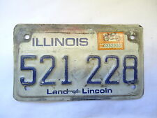 Illinois Motorcycle License Plate 1983 Sticker