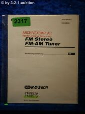Sony MANUAL ST se570/se370 FM/AM Tuner (#2317)