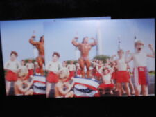 2 photo postcards Body Builders at Cape Canaveral FL