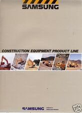 Equipment Brochure Samsung Construction Product Line Overview 1992 Eb122
