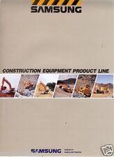 Equipment Brochure - Samsung - Construction Product Line - 1992 (Eb122)