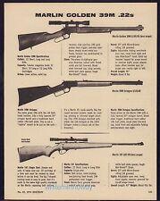 1974 MARLIN Golden 39M & Octagon, Model 101 .22 Rifle AD