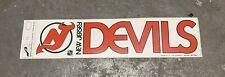 Vintage 1980s New Jersey Devils Bumper Sticker Brodeur National Hockey League
