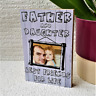 Fathers Day Personalised Wooden Block Dad Daddy Best Friends Gift Birthday