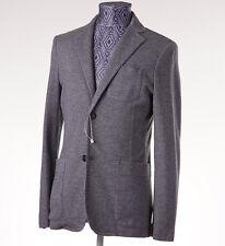 New Z ZEGNA Unstructured Gray Patterned Jersey Blazer Slim-Fit 38 R Sport Coat