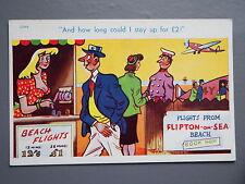 R&L Postcard: Comic, Brook Publishing, Aeroplane Flying/Woman with Big Boobs
