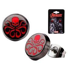 Avengers Agents of SHIELD Hydra Logo Round Stud Earrings Ear Rings Jewelry NIP