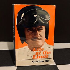 HAND SIGNED GRAHAM HILL LIFE AT THE LIMIT AUTOBIOGRAPHY BOOK F1 GP LOTUS 1970