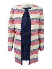 Tahari ASL Women's Plus Size Striped Flyaway Blazer
