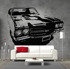 Chevrolet Chevelle SS 1969 Retro Hot Rod Vintage Vinyl Sticker Wall Art