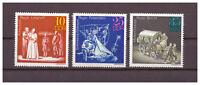 DDR, Bedeutende Theaterinszenierungen MiNr. 1850 - 1852, 1973**