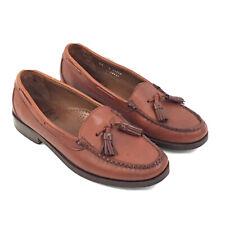 Allen Edmonds Naples Mens 8 D Loafer Tassel Brown Leather USA Shoes #6027