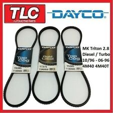 Dayco Fan Belt Kit (3 Belts) Triton MK 2.8 Diesel 4M40 4M40T  10/96 - 06/06
