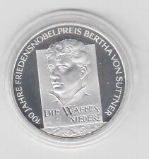 10 €   Bertha von Suttner  Polierte Platte   2005