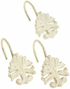 "Carnation Home Fashions 12Pc ""Fleur dis Lis"" shower curtain hooks CAR-PHP-FL/56"