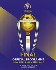 CRICKET WORLD CUP FINAL 2019 - Official Programme England v New Zealand @ Lords