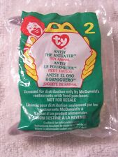 Antsy the Anteater, Ty Teenie Beanie Babies, McDonald's 1999 Sealed in Bag