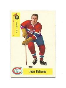 1958-59 Parkhurst:#34 Jean Beliveau,Canadiens