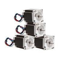 4 pcs Nema 23 stepper motor 270 oz.in=1.9NM single shaft 3A CNC 3D