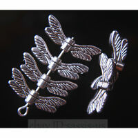 50 Pieces 20mm Angel Wing Spacer Beads Tibetan Silver DIY Jewelry End Bead A7753