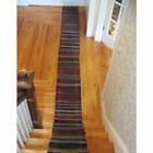 """Extra Long Woven Rug Runner, Americana Folk Art For The Floor, 16"""" W x 201"""" Long"""