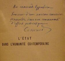 CORREARD - PROBUS - L'ETAT DANS L'HUMANITE CONTEMPORAINE - DEDICACE - 1947