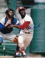 Lou Brock 8 x10 Autographed Signed Photo ( Cardinals HOF ) REPRINT