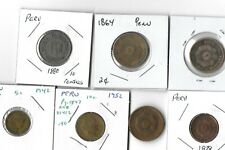Old Coin Lot Of Peru Lot Of Seven Old Coins 1864-1952
