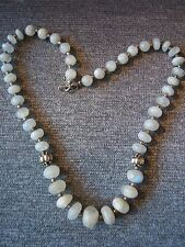 Sterling Silver 925 & Rainbow Moonstone Beaded Necklace