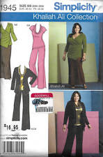 Simplicity 1945 Khaliah Ali Women's Knit Pants Skirt Top Cardigan Sewing Pattern