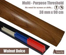 Walnut Gloss Dolce Laminate Threshold 38mmx90cm Multi-Height & Pivot