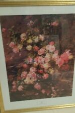 "*RARE* ""Roses"" by Madeleine jeanne Lemaire 30"" x 24"" - Christopher Wood Gallery"