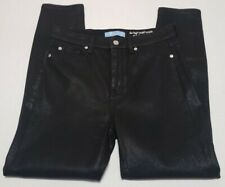 7 For All Mankind B(air) High Waist Ankle Skinny in Coated Black Size 29