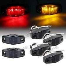 4Amber + 2Red Oval 2.5x1 LED Side Marker Trailer Light Clearance Diode Smoked