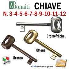 CHIAVE SERRATURA PORTA INTERNA PATENT BONAITI CHIAVI CF N 3-4-5-6-7-8-9-10-11-12