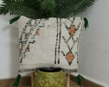 Traditional Moroccan Pillow berber Vintage-Handmade Cover 17 / 16 inches