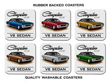71' 76'  CH CJ CK  CHRYSLER  SEDAN  318 V8  360 V8    SET OF 6   RUBBER COASTERS