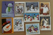 150 Christmas Holiday Greeting Cards, with Envelopes, Snowman, Snowmen