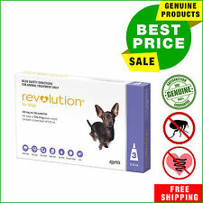 Revolution Flea Heartworm treatment for dogs 3 Pipettes 2.6 to 5 Kg Purple Pack