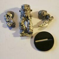 Warhammer 40k Space Marine Terminator Librarian Rogue Trader Metal OOP 1989