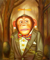 ZWOPT36 FANCY ABSTRACT MONKEY 100% hand painted ART OIL PAINTING ON CANVAS