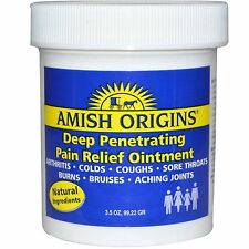 Amish Origins Deep Penetrating Pain Relief Cold Burn Itch joints Ointment 3.5 oz