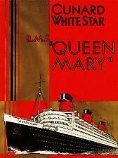 ART PRINT POSTER TRAVEL QUEEN MARY SHIP OCEAN LINER BOAT MAST FUNNEL UK NOFL1350