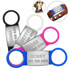 Stainless Steel Personalized Dog Cat ID Tag Customized Engraved Nameplate Tags