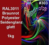 Pintura Polvo 1kg Polvo para Recubrimiento Pintura en polvo RAL3011 Rojo