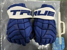 "Jeremy Bracco Pro Stock True Hockey Xc9 Gamer Gloves! Maple Leafs Nhl Blue 13"""