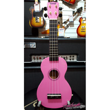 Mahalo MR1 Rainbow Series Soprano Ukulele with Bag and Aquila Strings in Pink