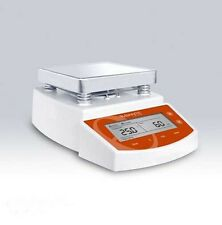 Heated Magnetic Stirrer Hot Heating Stirring Plate w/ Stir Bars Max 400°C