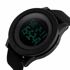 Big Face LED Chronograph Alarm Sport Waterproof Watches Mens Digital Watch